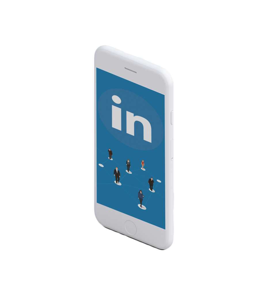 Mobile with linkedin app