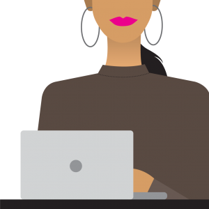 Lady with a macbook