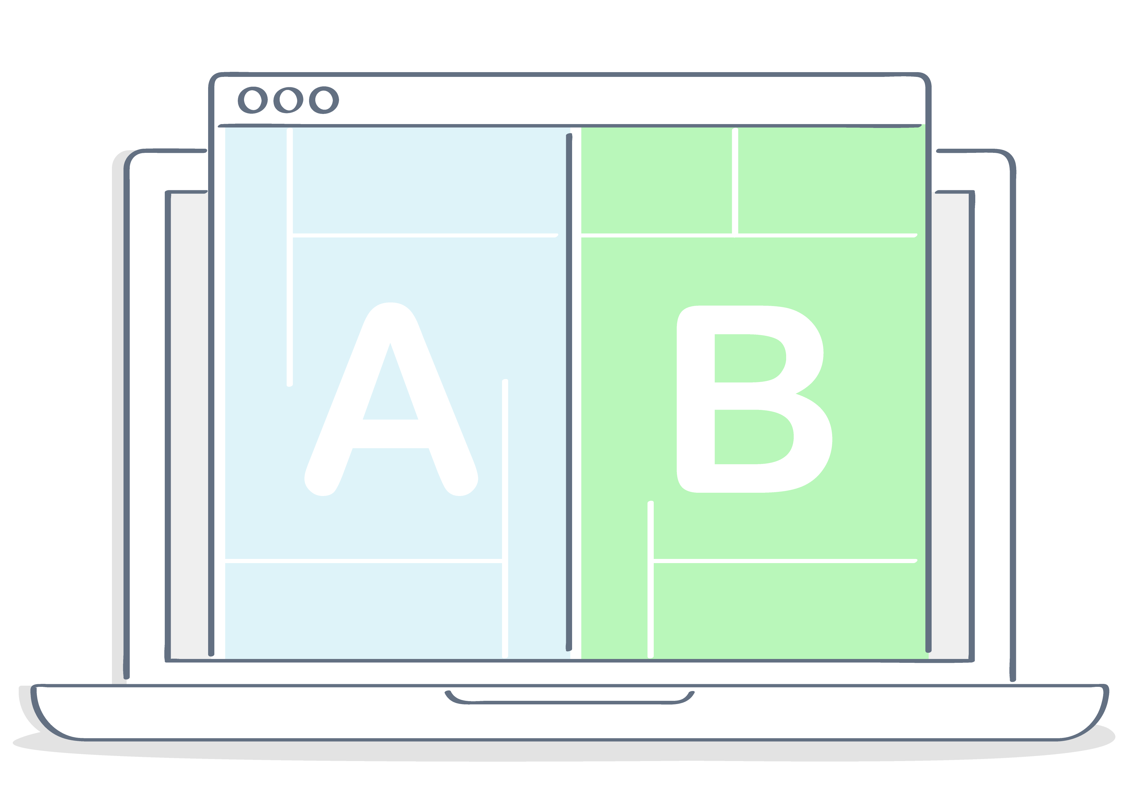 A and B letter window screen