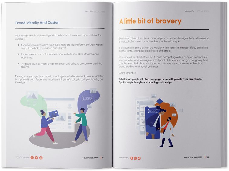 Inner pages brand design