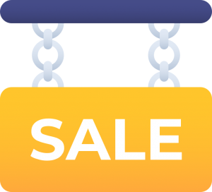 Sale Banner in Yellow