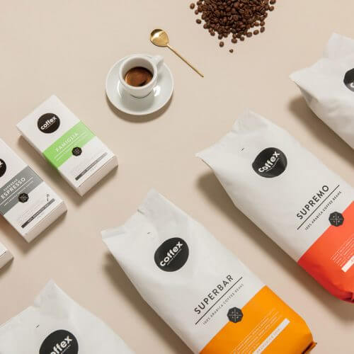 Coffex products display